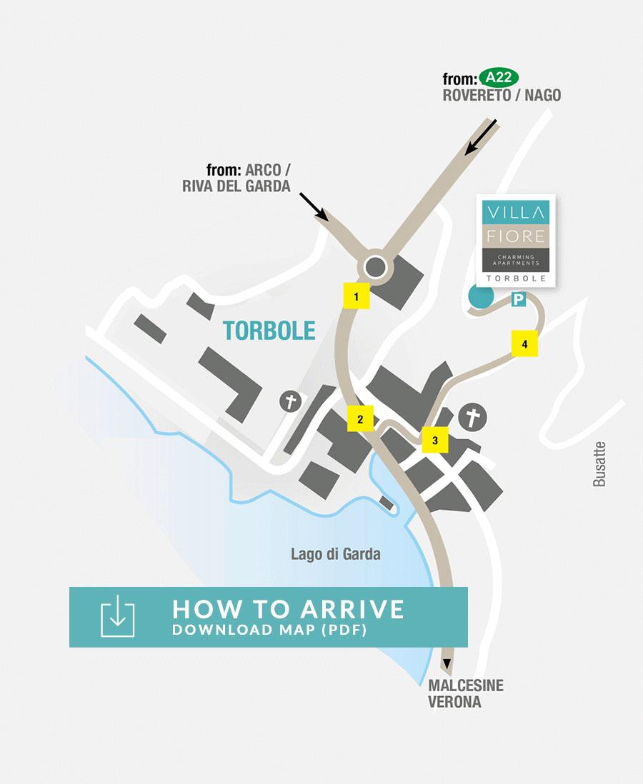 Villa Fiore Torbole Map